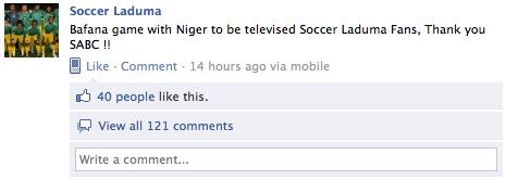 Soccer Laduma FB Post