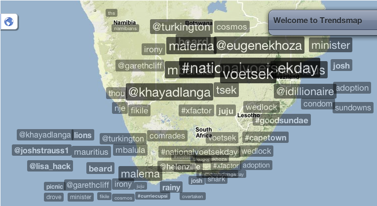 TrendsMap South Africa, 30Oct11