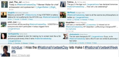 #NationalVoetsekDay Tweets