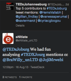 "<img src=""eNitiate_TEDxJohannesburg_2013_Tweet.png"" alt=""eNitiate tweet about TEDxJohannesburg 2013"">"