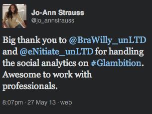 """<img src=http://""""Glambition_Jo-Ann_Strauss_Tweet_2013.png""""?w=812 alt=""""Glambition - Jo-Ann Tweet 2013"""">"""