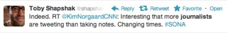 Journos @ #SONA 2012