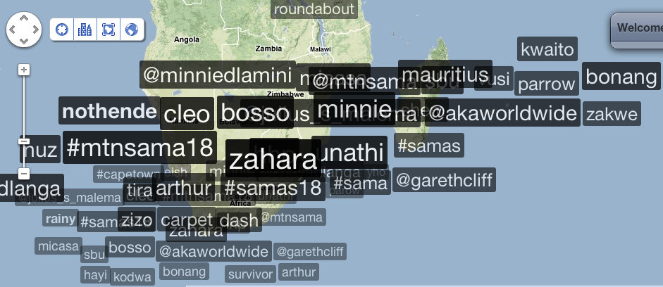 Trending topics in South Africa @ 23:03