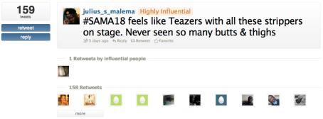 SAMA18 most influential tweet