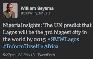 """<img src=http://""""Tweet_about_UN_Prediction_on_Lagos_Size_in_2015.png""""?w=242&h=154 alt=""""Tweet about UN Prediction on Lagos Size in 2015"""">"""