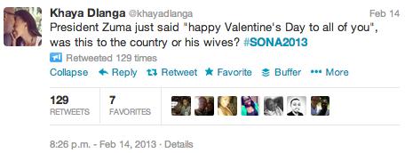 """<img src=http://""""SONA_2013_KHaya_Dlanga_Valentines_Tweet.png""""?w=388&h=146 alt=""""SONA 2013 - KHaya Dlanga Valentines Tweet"""">"""