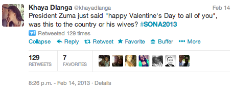 "<img src=""SONA_2013_KHaya_Dlanga_Valentines_Tweet.png"" alt=""SONA 2013 - KHaya Dlanga Valentines Tweet"">"