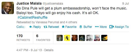 "<img src=""Justice_Malala_Tweet_President_Zuma_2013_Cabinet_Reshuffle.png"" alt=""Justice Malala Tweet - President Zuma 2013 Cabinet Reshuffle"">"