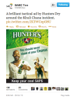 Response preview to Hunters poster on @SABCToo Twitter account: 183 Retweets       & 23 Favourates