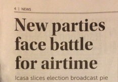 Mzansi Elections 2014 Airtime Battle