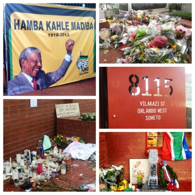 Source: Outside Mandela's old house, Vilakazi Street, Soweto.